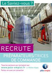 PREPARATEUR COMMANCE Rhone Alpes