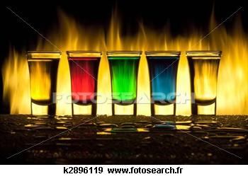 ALCOOL verre Feu