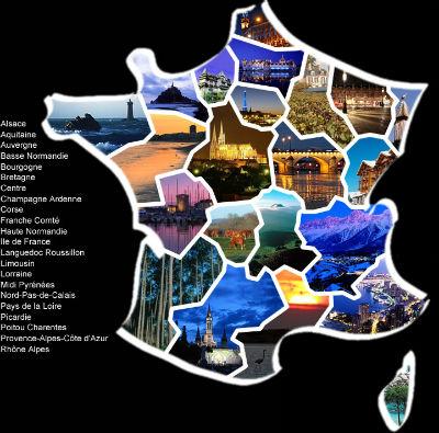 CARTE France régions details