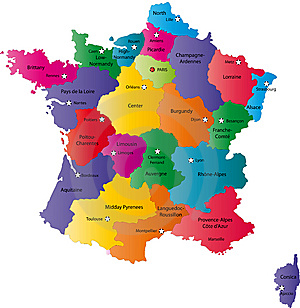CARTE France DEPARTEMENTS couleur