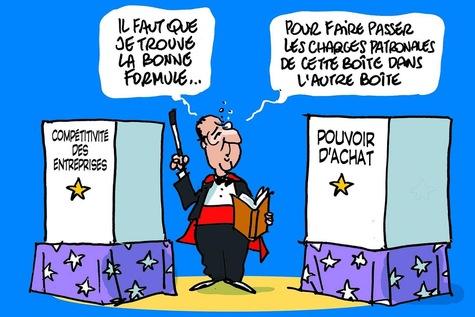 Compétitivité. Dessin F. Hollande