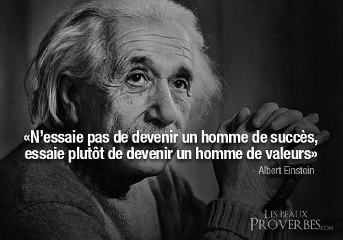 EINSTEIN proverbe