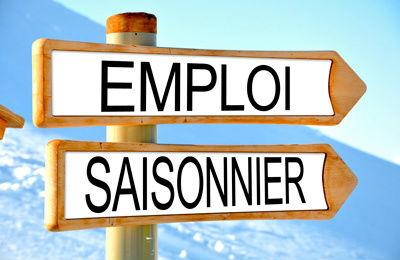 EMPLOI SAISONNIER Panneau logo