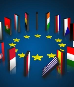 Logo DRAPEAUX Europe en rond
