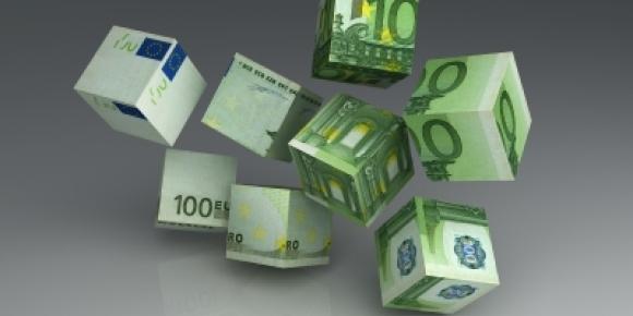 EURO billets cube