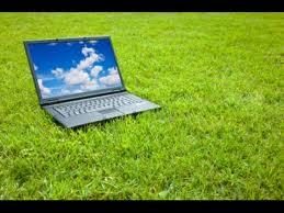 LAP TOP dans l` herbe