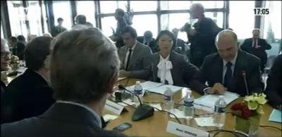 MOSCOVICI Pierre en reunion 4-10-2012