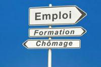Panneau bleu Emploi.Formation.chômage