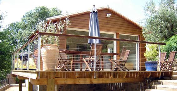BOIS Pavillon eau